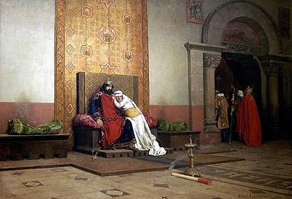 L'Excommunication de Robert le Pieux, peinture académique orientaliste de Jean-Paul Laurens, xixe siècle. Musée d'Orsay..jpg